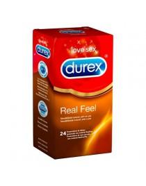PRESERVATIVOS REAL FEEL DE DUREX 24UD
